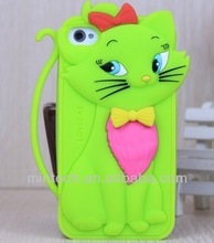 silicone Gentleman cat case for iphone 5