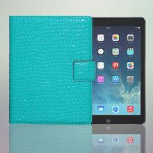 Blue Lagoon Shiny Croco Pattern Leather Case for iPad Air, iPad 5