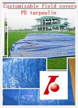 football field covers pe tarp,made to order pe tarpaulin,woven fabric poly tarp