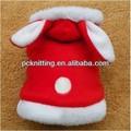 Hermosa y suave conejo para mascotas ropa para perros ropa para el invierno para mascotas ropa ropa perro en rosa/azul/venta al por mayor de color rojo
