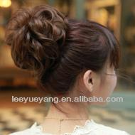 2014 hot sale dark brown curly hair bun