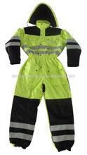 EN471 class 3 fluorescent oxford high visibility winter reflective work clothes