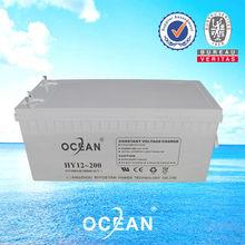 2014 new Ocean professional 12V 200AH lead acid battery solar power storage battery 220v for Solar inverter UPS high quality
