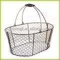 artesanato atacado cestas de arame galvanizado fio cesta