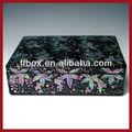 flor impresso fantasia baú de madeira caixas