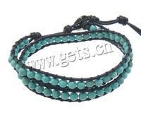 Leather 8mm 4.5mm wrap bracelet leather wrap bracelet