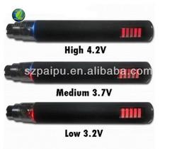 2014 top selling cigarettes battery variable voltage electronic cigarette battery ego vv ego vaporizer pen LCD display