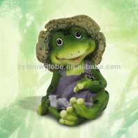 Garden ornament cute frog decoration