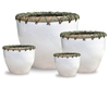 WP13005 - Home Decorators - Ceramic planters with rattan weaving