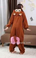 wholesale cartoon animal pajamas plush onesie monkey