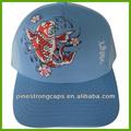 Nuevo estilo especial mapa 100% bordado de algodón casquillo de los deportes y el sombrero