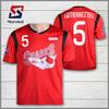Professional custom soccer jersey , heat transfer printing football shirt, cheap soccer uniforms from china