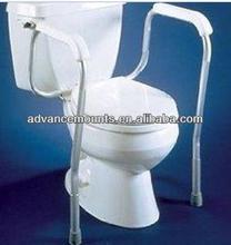 NEW Adjustable Height Bathroom Armrests Safety Support Frame Toilet Bowl Mount