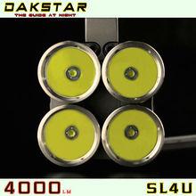 DAKSTAR New Arrival SL4U CREE XML2 U2 4000LM 18650 High Power Aluminum Hunting Torch Light
