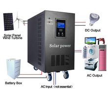 solar energy battery charger dc to ac power inverter 5000w