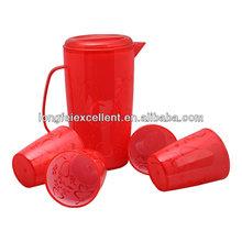 bottle set 4cups 5pcs disposable red cups plastic