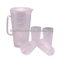 plastic mug 4cups+1kettle set plastic tea cups bulk