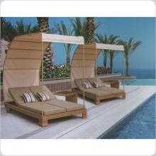 Outdoor Rattan/Wicker Double Sun Bed/Sun Lounger Furniture Series
