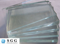 Nice price 6mm extra white toughened glass for curtain wall