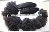 High quality virgin malaysian afro kinky straight hair weave