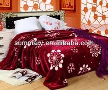 ECO-friendly printing soft double-deck raschel blanket,print mink blanket.2014 new
