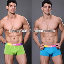 New Men's Candy Color Hot Trunk Boxer Brief Sexy men underwear wholesale