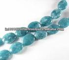 Natural Aquamarine Oval Smoot Beads Jaipur Manufacturer