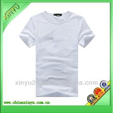 Plain popular v-neck men's 100% cotton t shirts