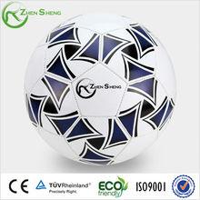 Machine sewn PVC football soccer ball