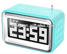 Retro digital radio alarm clock with mp3 speaker