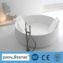 NSF SGS CE Approved Acrylic Bathtub/round bathtub Freestanding stone bathtub