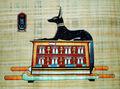 Papiro egiziano dipinti, anubi dio papiro