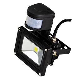 weatherproof outdoor human sensor 10w pir led flood light