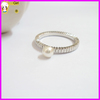 Eternity band ring with freshwater pearl_Sterling silver pearl ring