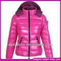 A maioria dos mulheres-de-rosa inverno gola de pele de casacos de peles mulheres 2014 modelo de casaco curto