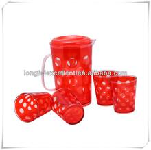 Kids plastic handle mugs with handle &plastic set mug