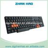 Laser printing 104 keys best wired slim keyboard