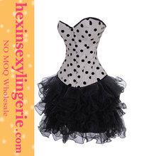 fashion women wholesale white gothic lace up corset dress