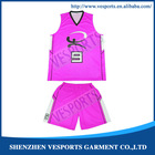 Sublimated reversible basketball jerseys