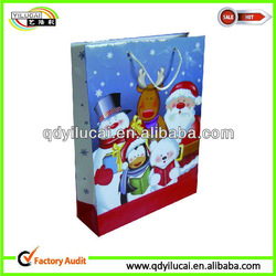 Christmas paper bag, christmas art paper bags