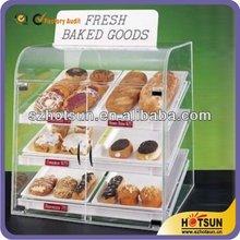 customized clear acrylic cupcake display cabinet / acrylic cake display case