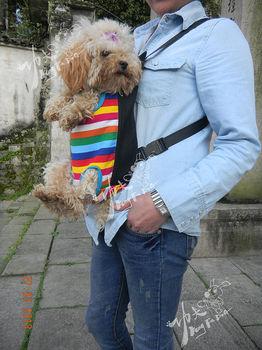 Stylish Durable Four hole chest dog bag,Canvas(100% Cotton)