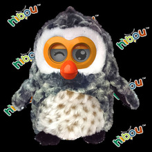 Talking stuffed animal toy owl for kids educational toy