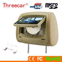 7'' headrest DVD player or monitor support USB/SD/IR/FM/ 2 gamer toyota headrest dvd player