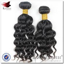 Chine moins cher de cheveux humains de la Malaisie vague profonde de cheveux de la Vierge