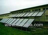 selective solar collector copper stripe