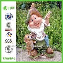 Lovely Dog Crafts Garden Resin Gnome Novelty