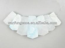 wholesale natural Hemimophite rectangle freeform semi precious stone beads string