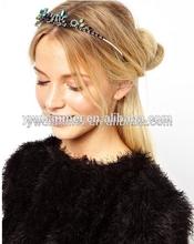 2014 wholesale party girl Butterfly rhinestone wedding bridal jewelry crystal headband