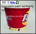 takeaway embalagens de papel para frango frito e pipoca